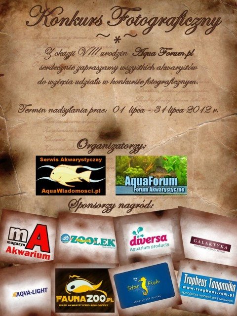 Fotorelacja z: Konkurs z okazji 8 urodzin Aqua Forum
